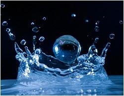 alkaline water druppels